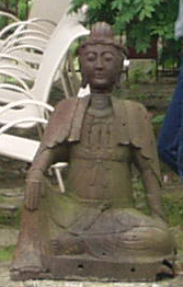 Back pool statue