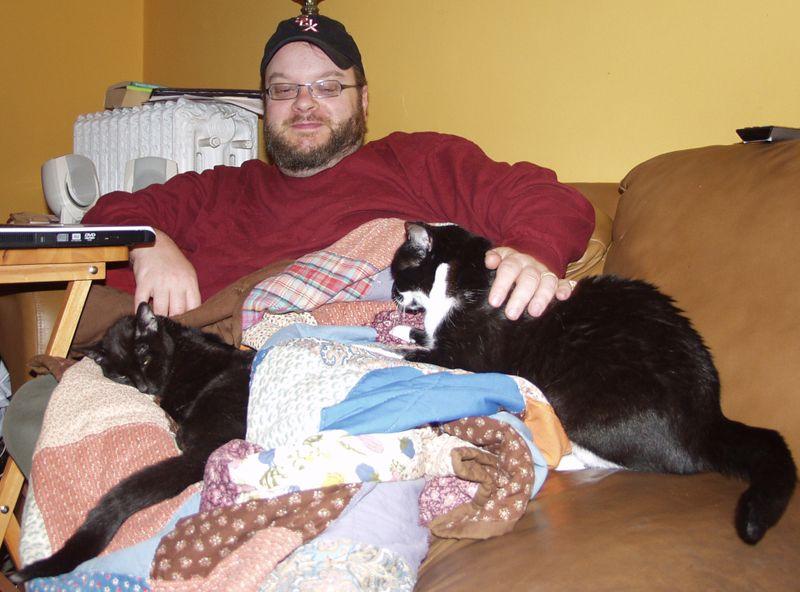 John and kitties