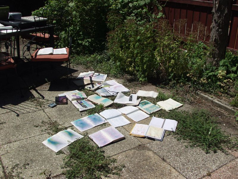 Journals drying